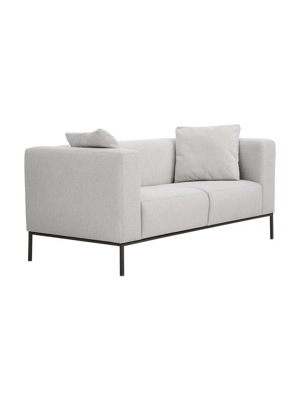 Sofa z metalowymi nogami Carrie (2-osobowa), Tapicerka: poliester 50 000 cykli w , Tapicerka: wyściółka z pianki na zaw, Nogi: metal lakierowany, Szary, S 176 x G 86 cm