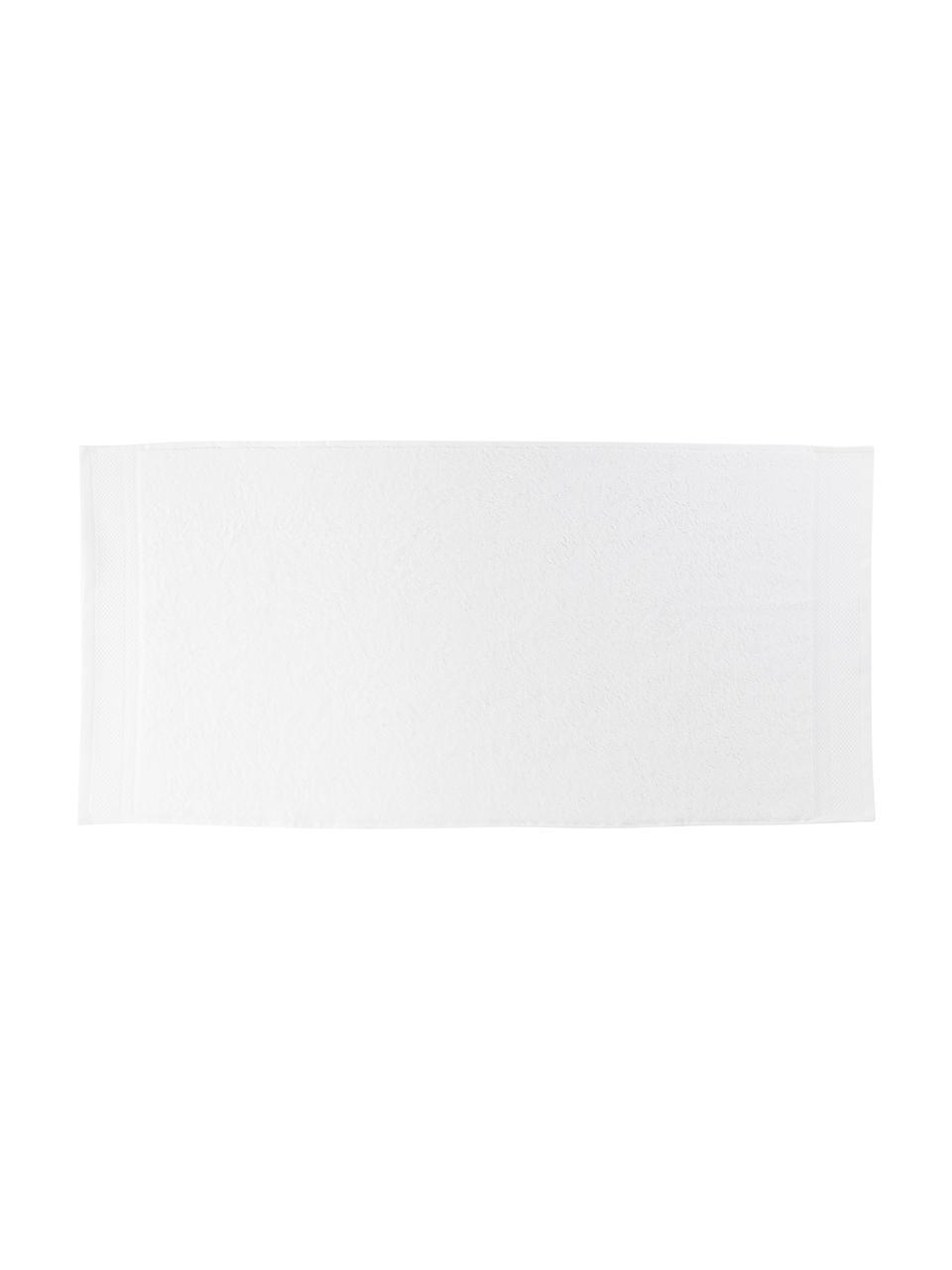 Handtuch-Set Premium mit klassischer Zierbordüre, 3-tlg., Weiß, 30 x 30 cm