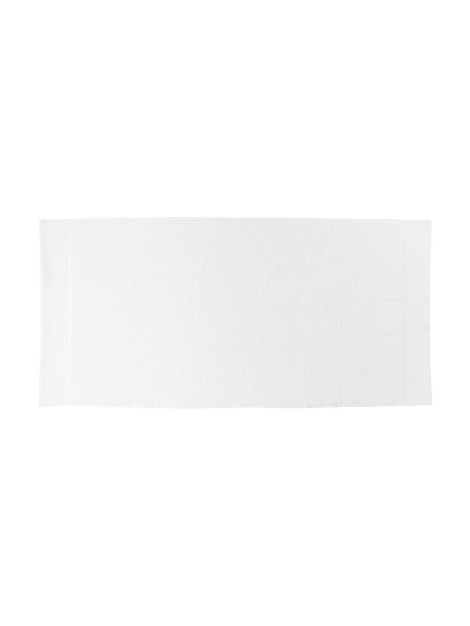 Lot de serviettes de bain avec bordure classique Premium, 3élém., Blanc