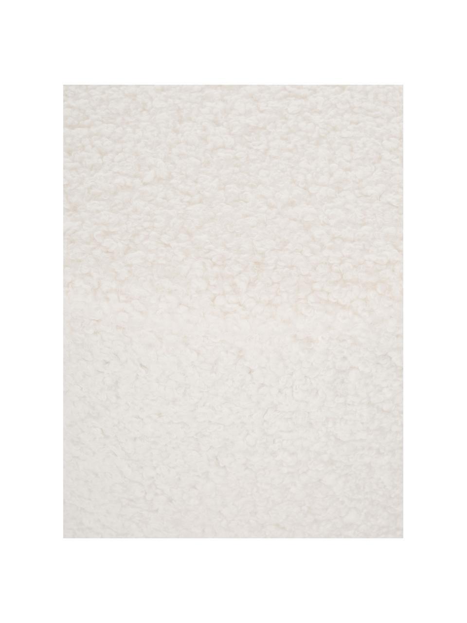 Teddy poef Daisy, Bekleding: polyester (teddyvacht), Frame: multiplex, Teddy crèmewit, Ø 54 x H 38 cm
