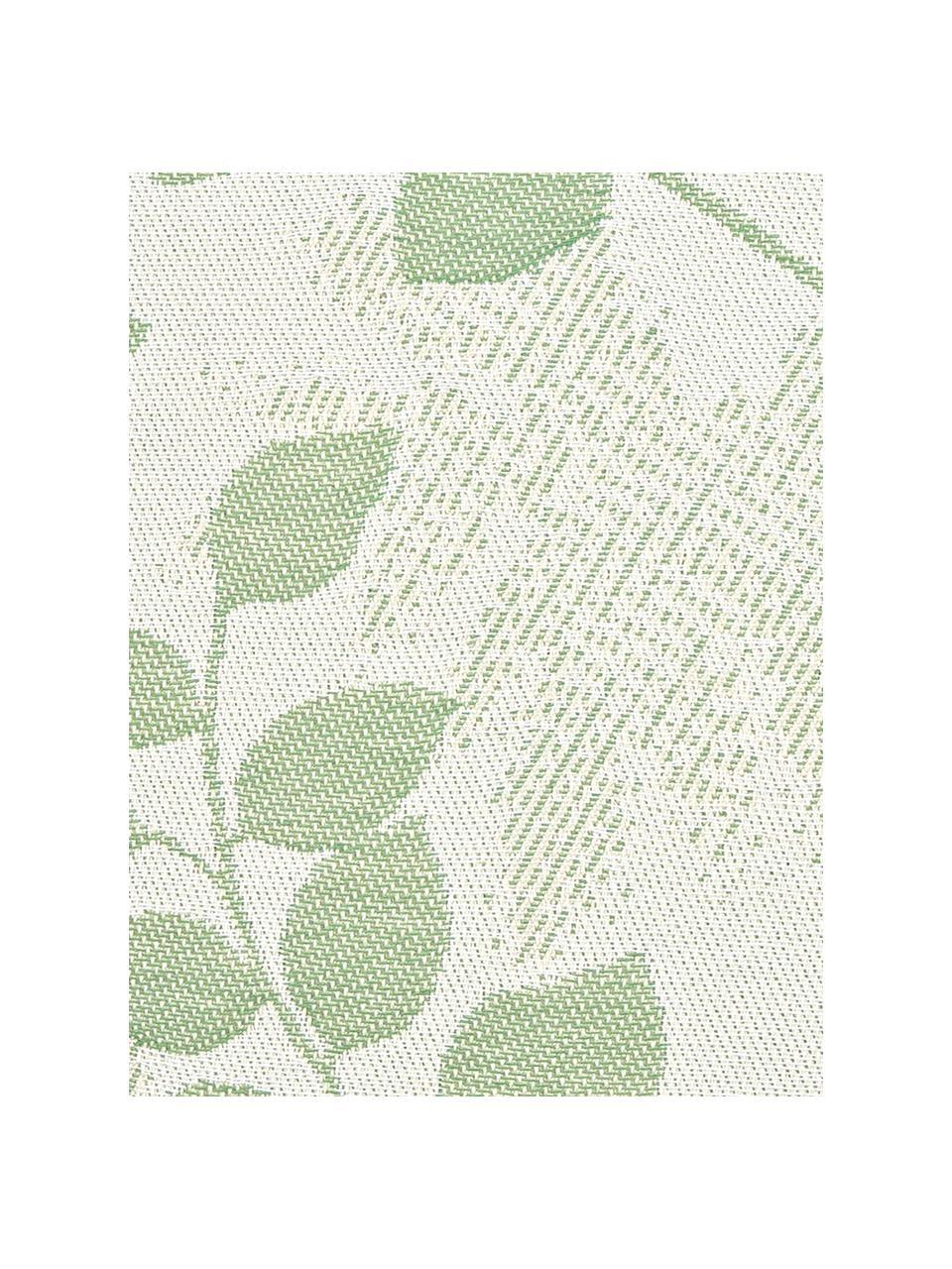 Outdoor-Kissenhülle Cruz mit Blattmuster in Grün, 100% Dralon (Polyacryl), Grün, Mintgrün, 50 x 50 cm