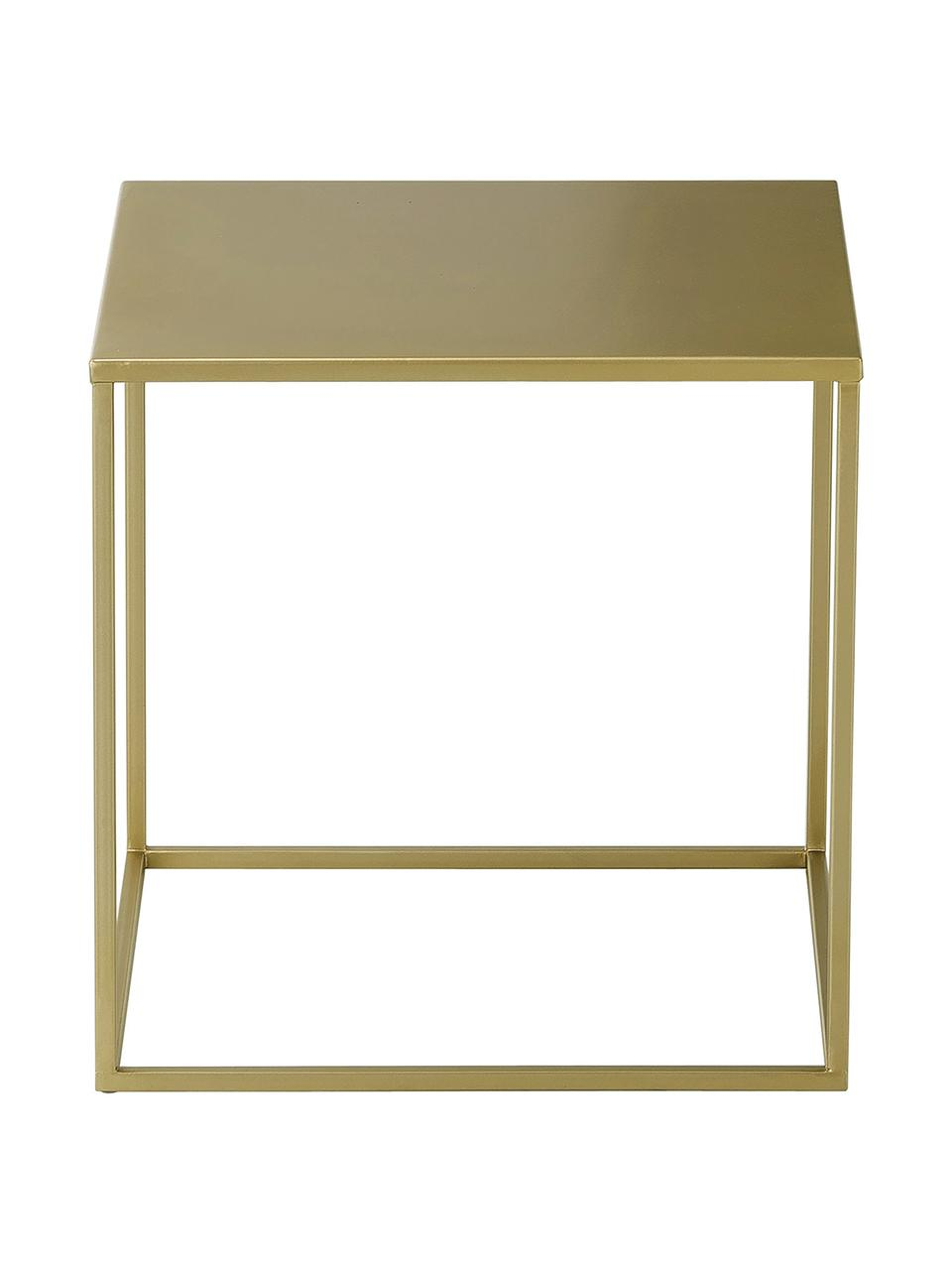 Mesa auxiliar Stina, Metal con pintura en polvo, Dorado mate, An 45 x Al 45 cm