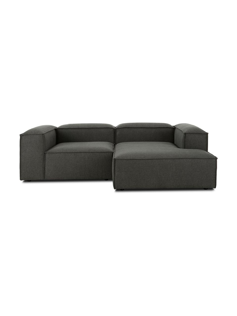 Canapé d'angle modulable gris anthracite Lennon, Tissu anthracite
