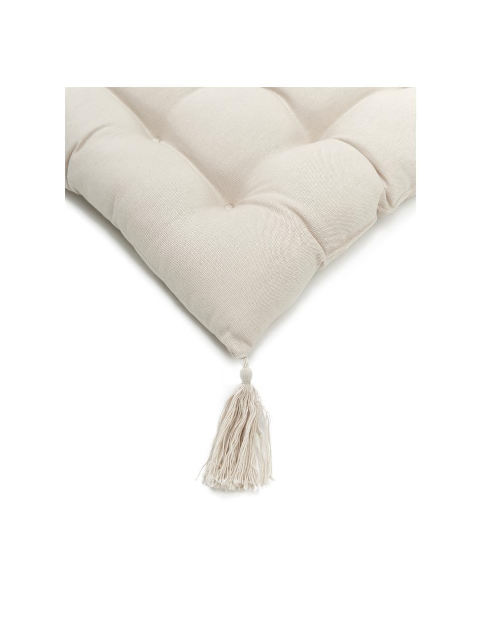 Cuscino sedia beige con nappe Ava, Rivestimento: 100% cotone, Beige, Larg. 40 x Lung. 40 cm