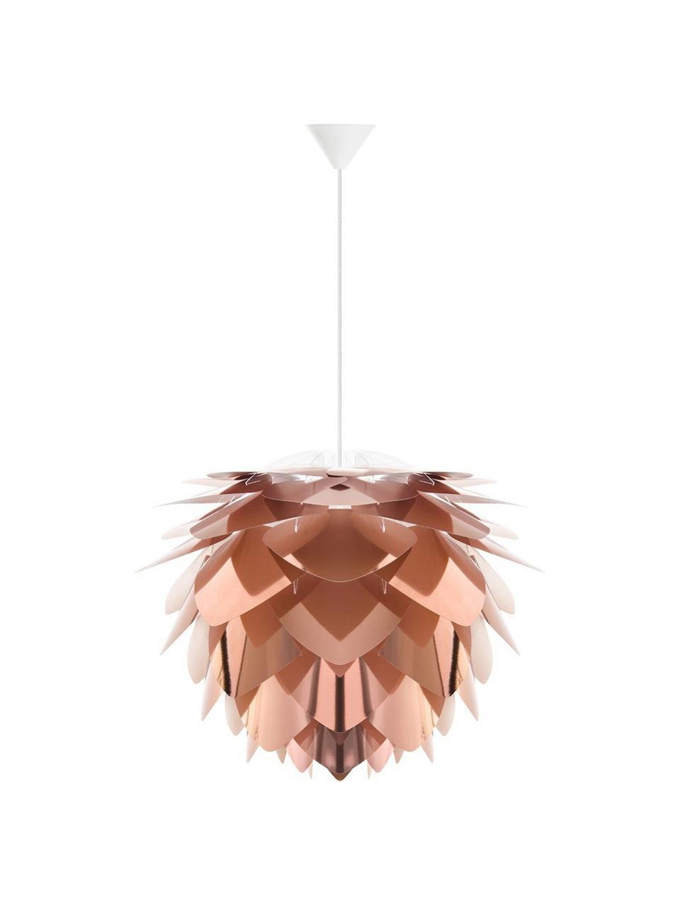Kit lampada a sospensione Silvia, Paralume: polipropilene, Baldacchino: materiale sintetico, Ramato, bianco, Ø 50 x Alt. 41 cm