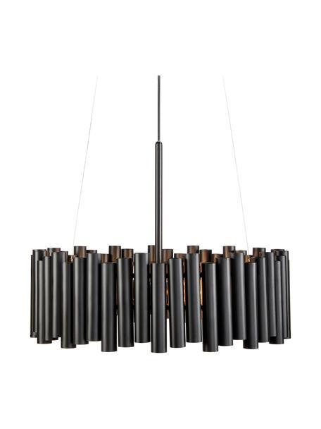 Lampada moderna a sospensione Level, Paralume: metallo rivestito, Baldacchino: metallo rivestito, Nero, Ø 53 x Alt. 20 cm