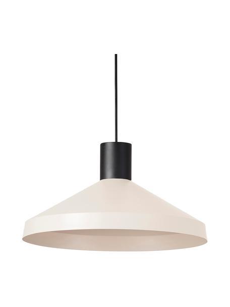 Lámpara de techo Kombo, estilo escandinavo, Pantalla: metal recubierto, Adornos: metal recubierto, Anclaje: metal recubierto, Cable: plástico, Beige claro, negro, Ø 40 x Al 21 cm