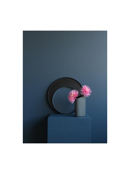 Bolvormige decoratief dienblad Circle in zwart, Gepoedercoat edelstaal, Mat zwart, Ø 40 x H 2 cm