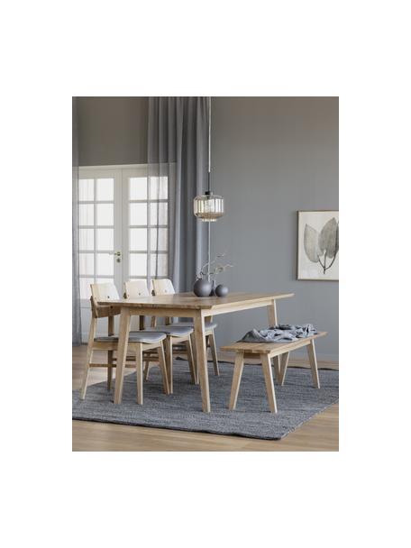 Eettafel Melfort in lichtbruin, Tafelblad: MDF met wild eikenhoutfin, Poten: massief berkenhout met ei, Lichtbruin, 180 x 90 cm