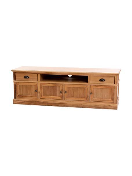 Mueble TV de madera Ross, Estructura: madera de paulownia, Marrón, An 150 x Al 50 cm