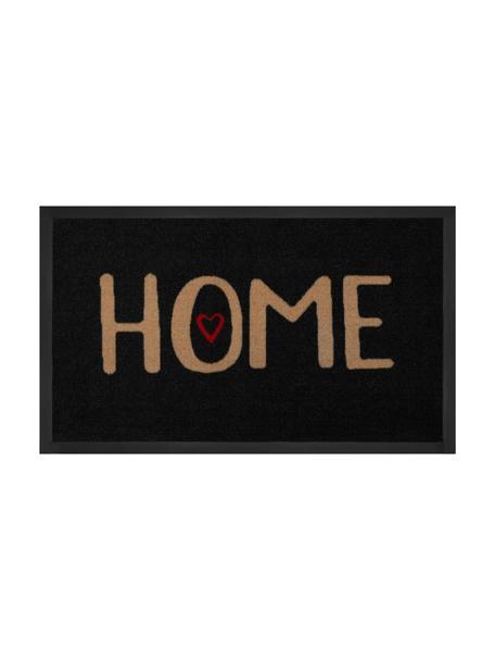 Felpudo de poliamida Lovely Home, Parte superior: poliamida, Reverso: goma, Negro, beige, rojo, An 45 x L 75 cm