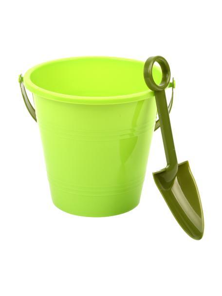Komplet wiaderka dla dzieci Little Gardener, 2 elem., Tworzywo sztuczne (PP), Zielony, Komplet z różnymi rozmiarami