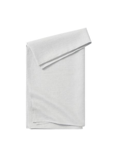 Mantel de lino Heddie, 100%lino, Gris claro, De 4 a 6 comensales (An 145 x L 200 cm)