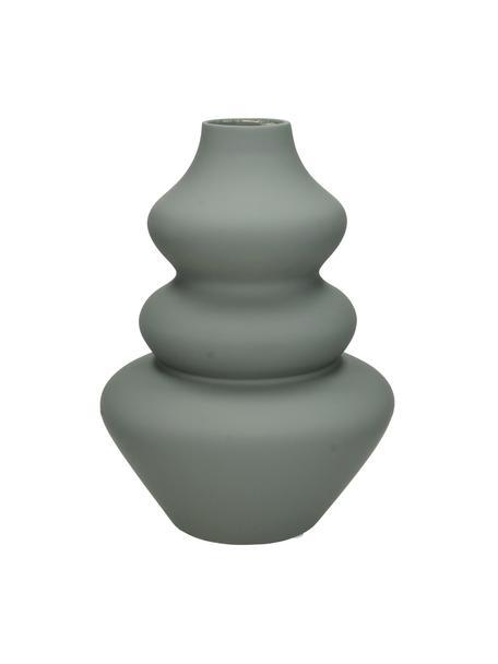 Vase Thena aus Steingut, Steingut, Grau, Ø 15 x H 22 cm