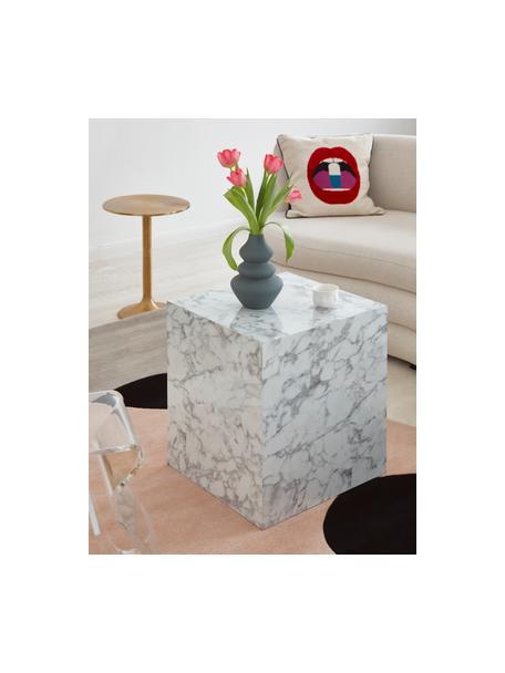 Vaso di design moderno in gres Thena, Gres, Grigio, Ø 15 x Alt. 22 cm