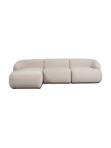 Narożna sofa modułowa Sofia, Tapicerka: 100% polipropylen Dzięki , Stelaż: lite drewno sosnowe, płyt, Nogi: tworzywo sztuczne, Beżowy, S 278 x G 174 cm