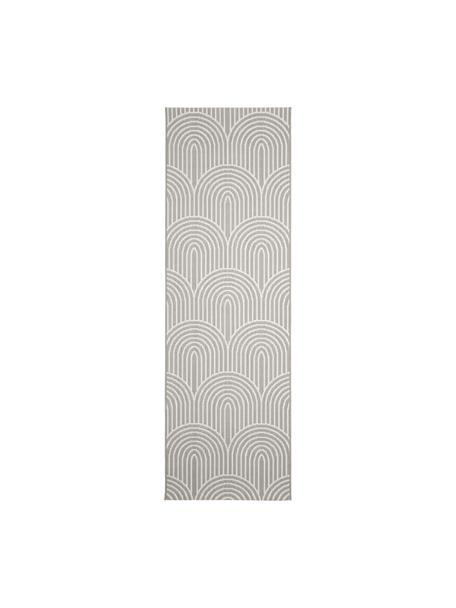 Chodnik wewnętrzny/zewnętrzny Arches, 86% polipropylen, 14% poliester, Szary, biały, S 80 x D 250 cm