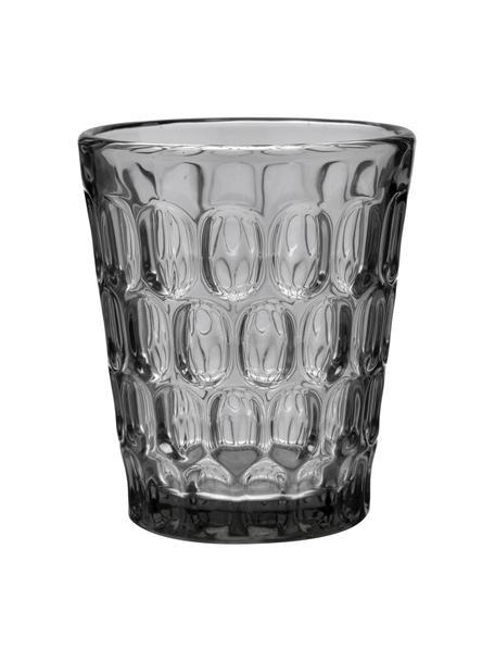 Szklanka Optic, 6 szt., Szkło, Transparentnyny, szary, Ø 9 x W 11 cm