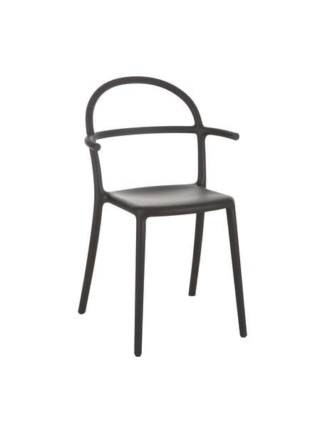 Krzesło z tworzywa sztucznego Generic, 2 szt., Modyfikowany polipropylen, Czarny, S 52 x G 51 cm
