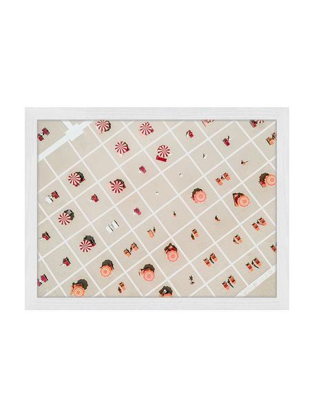 Gerahmter Digitaldruck Squared Beach, Bild: Digitaldruck auf Papier, , Rahmen: Holz, lackiert, Front: Plexiglas, Mehrfarbig, 43 x 33 cm