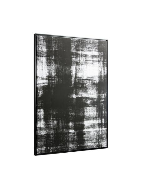 Canvas print Yukon, Lijst: gecoat MDF, Afbeelding: canvas, Zwart, wit, 80 x 120 cm