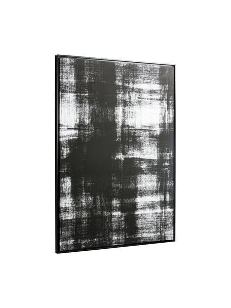 Leinwandbild Yukon, Rahmen: Mitteldichte Holzfaserpla, Bild: Leinwand, Schwarz, Weiß, 80 x 120 cm