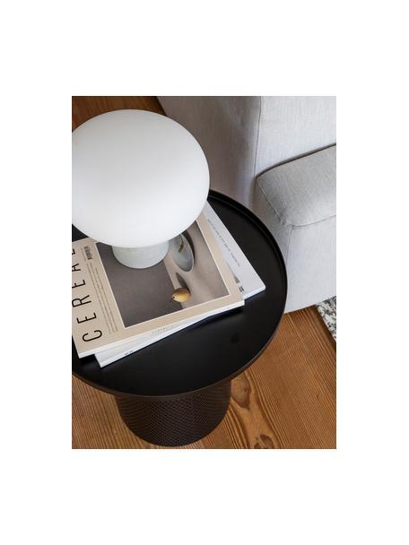 Lampa stołowa z betonową podstawą Alma, Podstawa lampy: szary beton Klosz: biały, Ø 23 x W 24 cm
