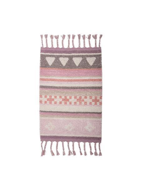 Dywan Nagou, Bawełna, Odcienie różowego, biały, beżowy, S 60 x D 90 cm