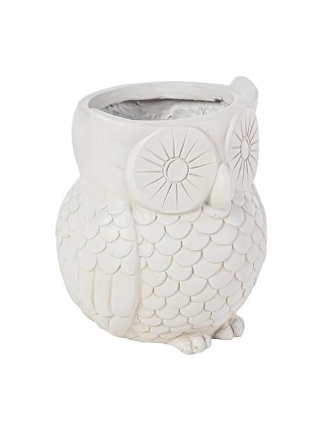 Maceta grande Owl, Plástico, Blanco crudo, Ø 35 x Al 31 cm