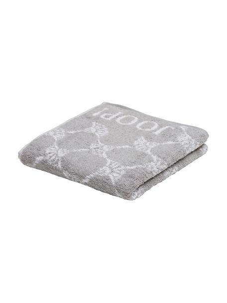 Asciugamano con stampa floreale Classic Cornflower, Grigio argento, bianco, Asciugamano