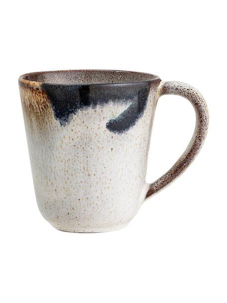 Ręcznie wykonany kubek z kamionki Jules, 2 szt., Kamionka, Odcienie beżowego, odcienie brązowego, czarny, Ø 10 x W 10 cm