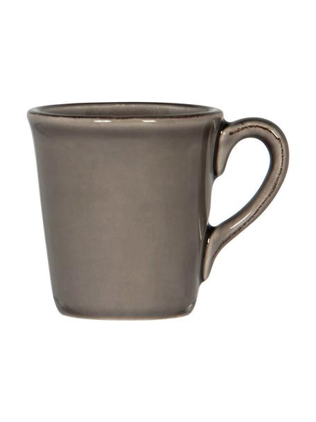 Espresso kopjes Constance in landelijke stijl, 2 stuks, Keramiek, Bruin, Ø 8 x H 6 cm