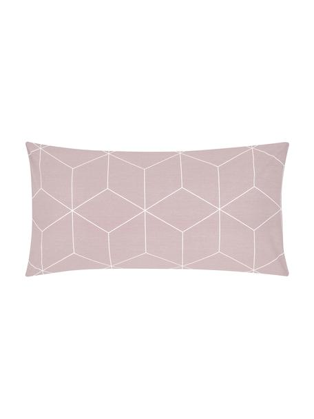 Poszewka na poduszkę z bawełny Lynn, 2 szt., Brudny różowy, kremowy, S 40 x D 80 cm