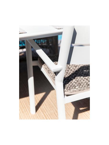 Sedia impilabile da giardino bianco Delia, Alluminio verniciato a polvere, Bianco, Larg. 55 x Prof. 55 cm