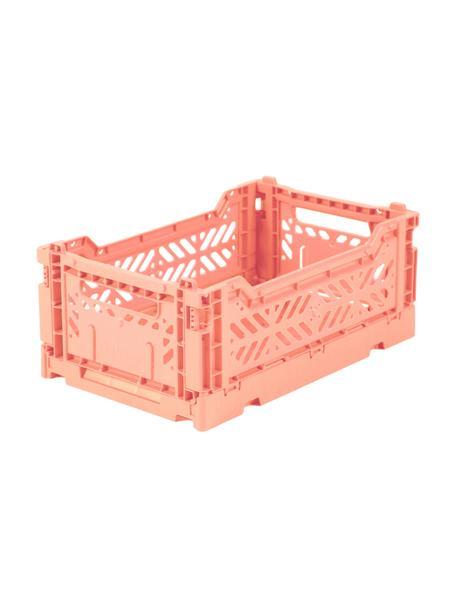 Caja plegable apilable Salmon, pequeña, Plástico reciclado, Salmón, An 27 x Al 11 cm