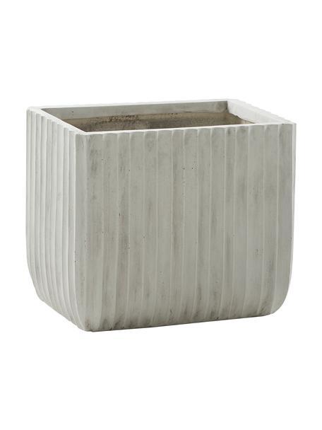 XL Pflanztopf Portina, Faserton, Grau, Ø 48 x H 40 cm