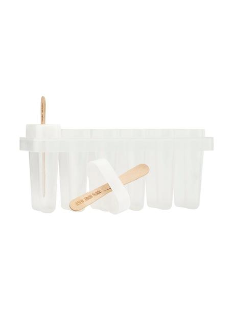 Foremka do lodów Ice Cream, 101 elem., Tworzywo sztuczne, drewno, Transparentny, drewno naturalne, Komplet z różnymi rozmiarami