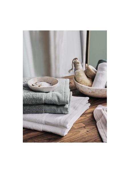 Komplet ręczników Premium, 3 elem., Ciemny szary, Komplet z różnymi rozmiarami