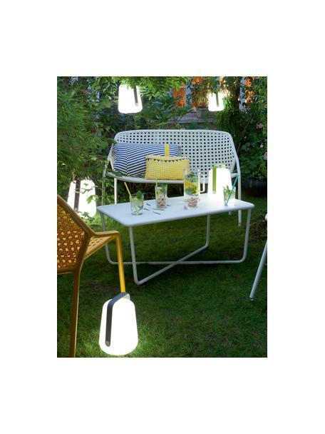 Lámpara para exterior regulable Balad, portátil, Pantalla: polietileno con tratado d, Asa: aluminio pintado, Marrón nuez, Ø 19 x Al 25 cm