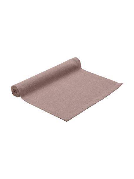 Bieżnik z mieszanki bawełny Riva, 55%bawełna, 45%poliester, Mauve, S 40 x D 150 cm