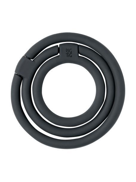 Sottopentola in silicone nero Circles, Silicone, nylon, Nero, Set in varie misure