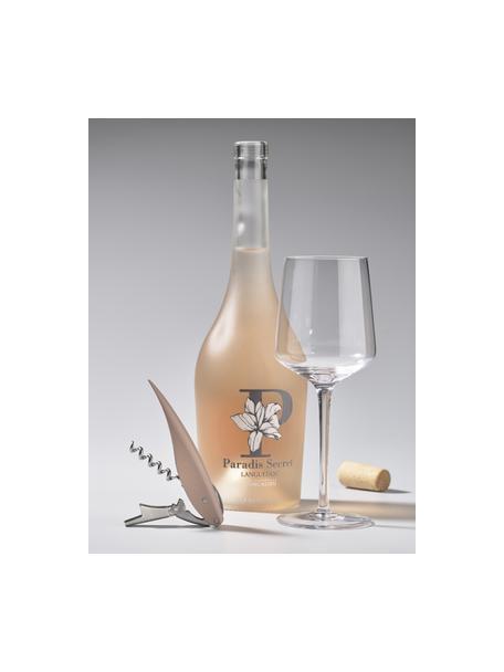 Abridor de botellas Rocks, con sacacorchos, abrotellas y cortador, Acero, plástico (ABS), Plateado, rosa, L 13 x An 2 cm