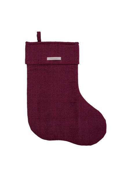 Calza Santa, Cotone, Rosso bordeaux, L 32 x A 45 cm