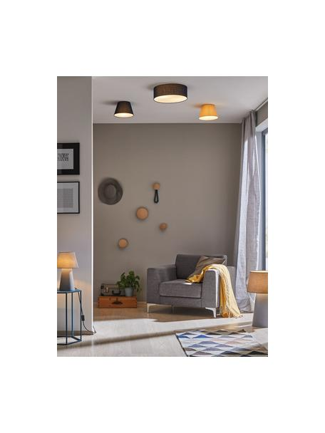 Plafondlamp Mari in donkerblauw, Lampenkap: textiel, Diffuser: kunststof, Donkerblauw, Ø 38 x H 13 cm