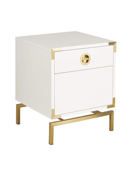 Nachttisch Elegance mit Schublade, Korpus: Mitteldichte Holzfaserpla, Weiß, 45 x 55 cm