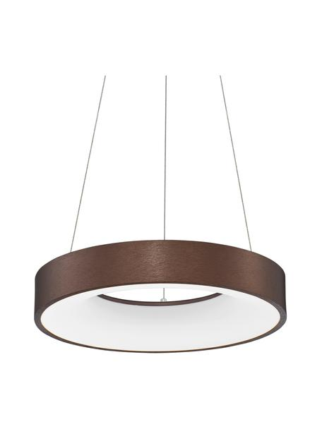 Dimbare LED hanglamp Rando in brons, Lampenkap: gecoat aluminium, Diffuser: acryl, Baldakijn: gecoat aluminium, Bronskleurig, Ø 38 x H 6 cm
