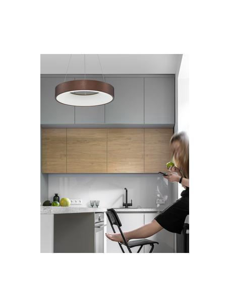 Lampa wisząca LED z funkcją przyciemniania Rando, Odcienie brązowego, Ø 38 x W 6 cm