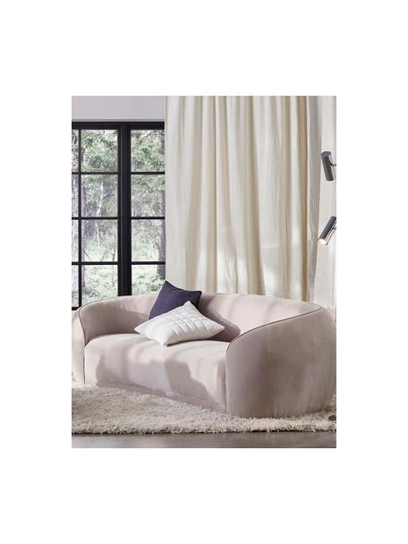 Designer fluwelen bank Austin (3-zits) in beige, Bekleding: 89% katoen, 11% polyester, Frame: hout, Beige, B 232 x D 92 cm