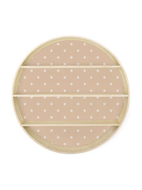 Mensola a muro rotonda Stars, Compensato, rivestito, Rosa, legno, Ø 56 x Prof. 10 cm