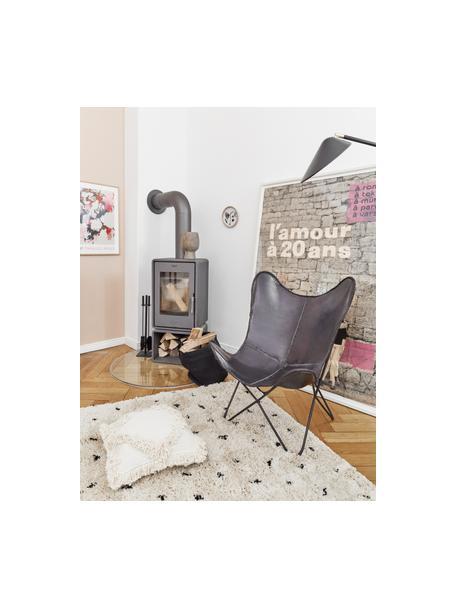 Flauschiger Hochflor-Teppich Ayana, gepunktet, Flor: 100% Polyester, Beige, Schwarz, B 160 x L 230 cm (Größe M)